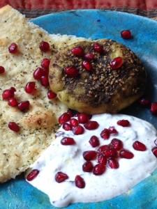 galettes zaatar-yaourt grenade