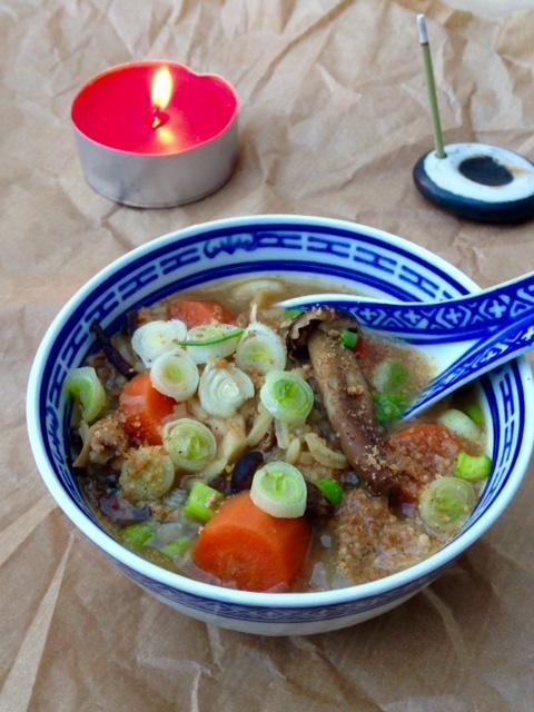 Bouillon carottes-riz miso