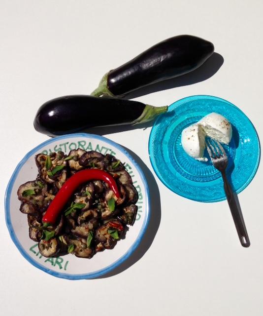 Salade aubergines menthe général